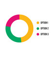 colorful business pie chart for your documents vector image vector image