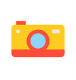 colorful camera flat icon on white background vector image vector image