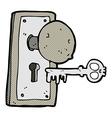 comic cartoon spooky old door knob vector image vector image