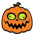 crazy pumpkin vector image vector image
