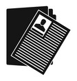 criminal man folder icon simple style vector image vector image