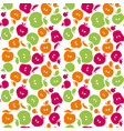 cute simple flat apple fruit seamless pattern for vector image vector image