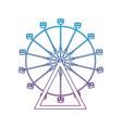 degraded line ferris wheel mechanical carnival vector image