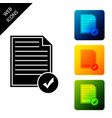 document and check mark icon isolated checklist vector image vector image