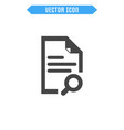 document icon flat icon vector image vector image
