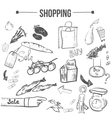doodle shopping stylish set EPS10 vector image vector image