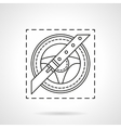 Driver safety flat line icon vector image