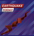 earthquake today news banner vector image