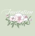 elegant modern peony flower bouquet vector image vector image