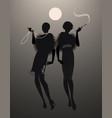 elegant shilouettes november vector image