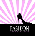 Fashion with black shoe in the background vector image