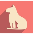 Flat with shadow icon and mobile application Egypt vector image vector image