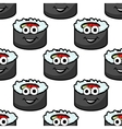 Funny sushi seamless background vector image vector image