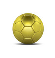 gold soccer ball isolated on white background vector image vector image