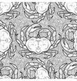 Graphic crab pattern vector image vector image