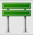 green traffic sign road board text panel vector image vector image