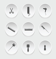 hairdressing icons vector image