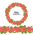 hand drawn doodle style wreath and seamless brush vector image vector image