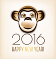 Happy new year 2016 Year Of The Monkey vector image vector image