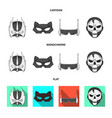 hero and mask icon set of vector image vector image