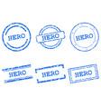 hero stamps vector image vector image