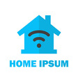 Home with Wireless Network Logo Design vector image vector image