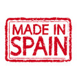 made in spain stamp text vector image