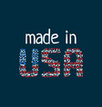made in usa logo from colorful dots vector image vector image