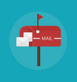 Mail box post icon Flat design vector image vector image