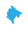 map of montenegro high detailed map - montenegro vector image vector image