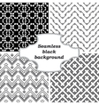 Mono line backgrounds with simple patterns vector image vector image