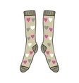 Pair of doodle socks isolated on white background vector image vector image