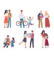 people with gifts happy persons give vector image