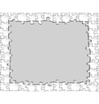 Picture frame of puzzles vector image vector image
