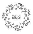 pine cones seamless brush christmas wreath vector image
