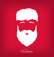 portrait of santa claus with a beautiful hairdo vector image vector image