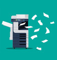professional office copier vector image vector image