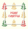 red golden green colored xmas tree christmas vector image
