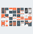 set of vertical double sided business card vector image