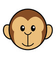 simple cartoon of a cute monkey vector image vector image