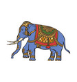 sketch indian gold decorated elephant vector image