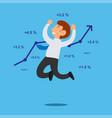success businessman jump vector image