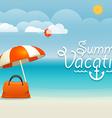 Summer seaside vacation Summer vacation concept vector image