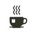 tea cup icon with teabag cafe and coffee related vector image vector image