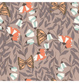 traditional seamless pattern with monarchs vector image vector image