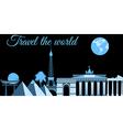 Travel the world world landmarks travel vector image vector image