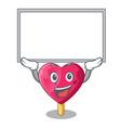 up board chocolate heart on ice cream cartoon vector image vector image