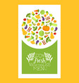 vegetable menu banner template with fresh farm vector image
