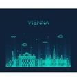 Vienna skyline trendy linear