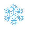 winter snowflake decoration for christmas and new vector image vector image